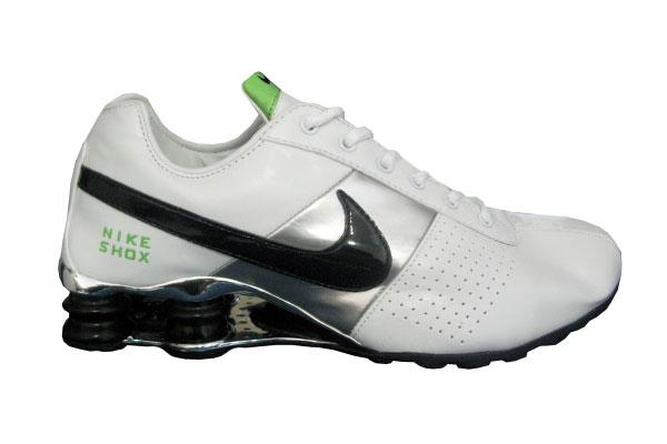 5c36d3139e66f1 Store Mix Nike shox Classic Cromado Branco e Preto ...